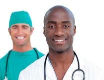 Portret van assertieve mannelijke artsen Stock Foto