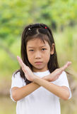 Portret van Aziatisch jong meisje Stock Fotografie