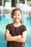 Portret van Aziatisch meisje Royalty-vrije Stock Afbeelding