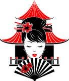 Portret van Aziatisch meisje stock illustratie