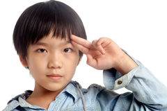 Portret van Aziatische jongen Stock Afbeelding