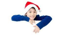 Portret van Aziatische leuke jongen met lege ruimte voor uw tekst. Stock Fotografie