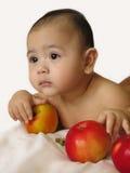 Portret van babyjongen Stock Foto's