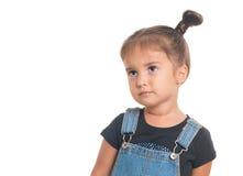 Portret van babymeisje Geïsoleerde Royalty-vrije Stock Afbeelding