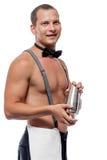 Portret van barman het werken royalty-vrije stock afbeeldingen