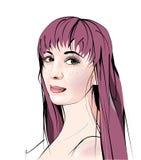 Portret van beautifulgirl Stock Afbeeldingen