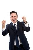 Portret van bedrijfsmensen schreeuwende overwinning Stock Fotografie