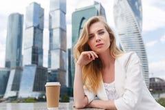 Portret van bedrijfsvrouw Royalty-vrije Stock Foto's