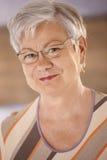 Portret van bejaarde Stock Foto