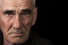 Portret van bejaarde Royalty-vrije Stock Afbeelding