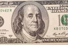 Portret van Benjamin Franklin Stock Afbeeldingen