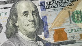 Portret van Benjamin Franklin stock footage