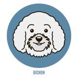 Portret van Bichon Vector illustratie Royalty-vrije Stock Foto's