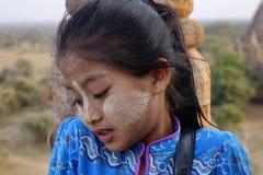 Portret van Birmaans meisje stock foto
