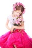Portret van blond klein meisje Stock Foto
