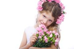 Portret van blond klein meisje Royalty-vrije Stock Fotografie