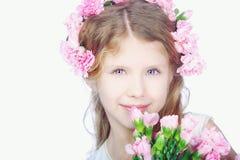 Portret van blond klein meisje Stock Fotografie