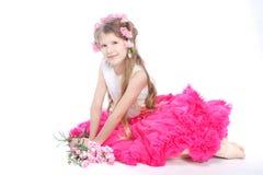 Portret van blond klein meisje Royalty-vrije Stock Foto