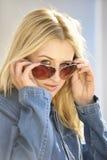 Portret van blond meisje Royalty-vrije Stock Foto's