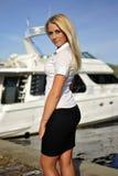 Portret van blonde meisje Stock Afbeelding