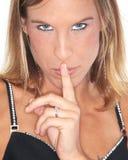 Portret van blonde model royalty-vrije stock afbeelding