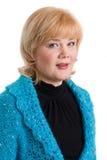Portret van blonde vrouw. royalty-vrije stock afbeeldingen