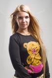 Portret van blonde vrouw Royalty-vrije Stock Foto's