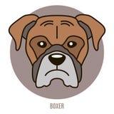 Portret van bokser Vector illustratie Royalty-vrije Stock Foto's