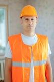 Portret van bouwer Stock Afbeelding