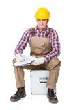 Portret van bouwvakker Stock Afbeeldingen