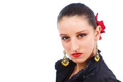 Portret van boze flamencodanser Royalty-vrije Stock Foto