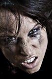 Portret van boze vrouw Stock Fotografie