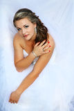Portret van bruid Stock Foto