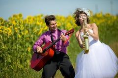 Portret van bruid en bruidegom Stock Fotografie
