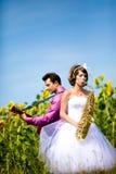 Portret van bruid en bruidegom Royalty-vrije Stock Afbeelding