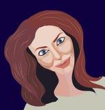 Portret van bruin-haarmeisje Royalty-vrije Stock Afbeelding