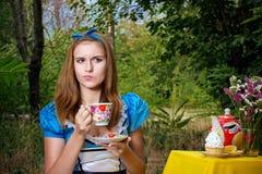 Portret van bruin-haired meisje stock foto