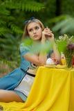 Portret van bruin-haired meisje stock afbeelding