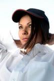 Portret van brunette Stock Afbeelding