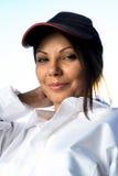 Portret van brunette royalty-vrije stock fotografie