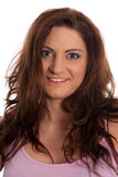 Portret van brunette royalty-vrije stock foto's