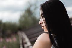 Portret van brunette stock afbeeldingen