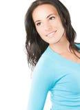 Portret van close-up mooie vrouw Stock Fotografie