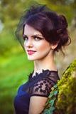 Portret van dame in sluier Royalty-vrije Stock Afbeelding
