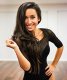 Portret van dansersmeisje Royalty-vrije Stock Afbeeldingen