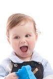 Portret van de aanbiddelijke jongen van de blauw-ogenbaby Royalty-vrije Stock Fotografie