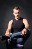 Portret van de aantrekkelijke man Stock Fotografie