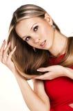 Portret van de aantrekkingskrachtvrouw Royalty-vrije Stock Afbeeldingen