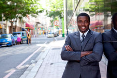 Portret van de Afrikaanse bedrijfsmens Royalty-vrije Stock Foto's
