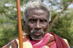 Portret van de Afrikaanse oude man Stock Fotografie
